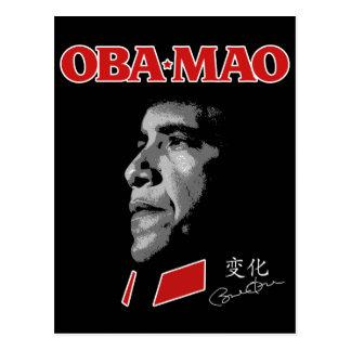Obama Obamao OBA-MAO Mao Postcard