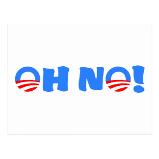 Obama Oh No! Postcard