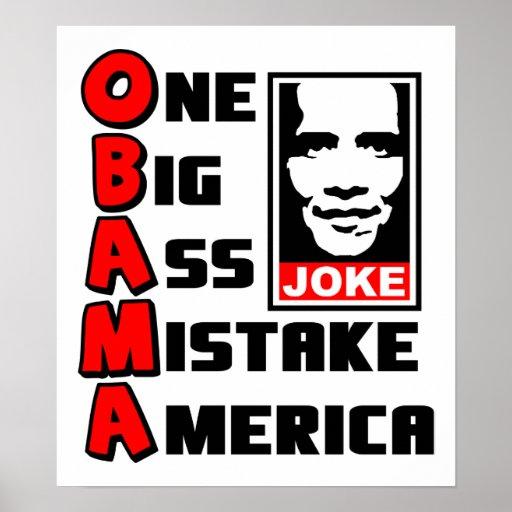 OBAMA: One Big Mistake Print