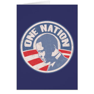 obama-one-nation-T Greeting Card