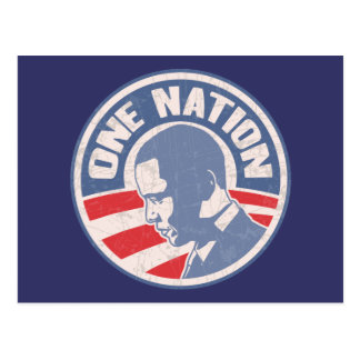 obama-one-nation-T Postcard