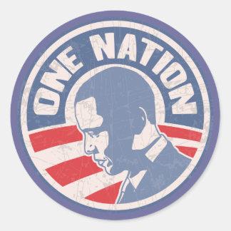 obama-one-nation-T Round Sticker