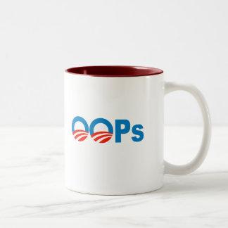 Obama oops Two-Tone mug