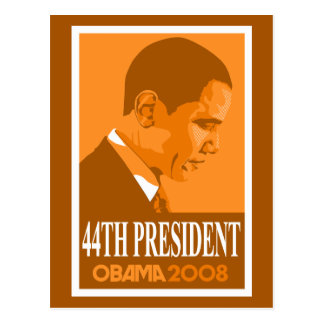 Obama Orange 44th President Postcard
