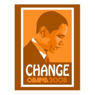 Obama Orange Change Postcard