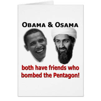 Obama & Osama Greeting Card