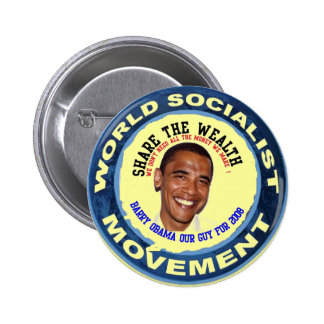obama our guy, socialist 6 cm round badge