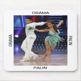 Obama Palin Mousepad Portrait