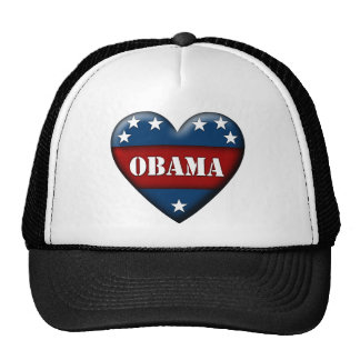 obama patriotic heart cap