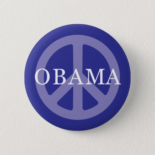 OBAMA PEACE SIGN BUTTON
