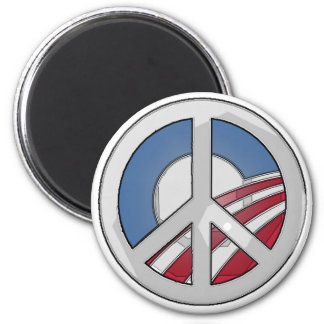 Obama Peace Sign Magnet
