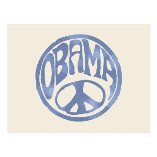 Obama Peace Stamp Postcard