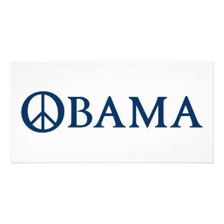 Obama Peace Symbol Picture Card