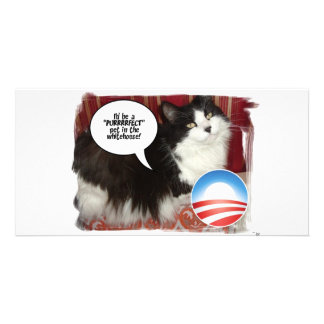 Obama Pet Political Humor Personalized Photo Card