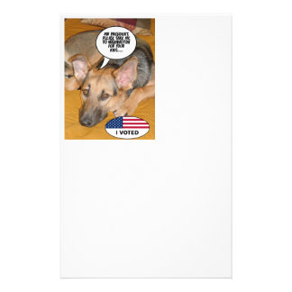 Obama Pet Whitehouse Humor Stationery Paper