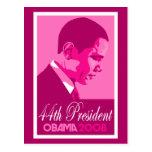 Obama Pink 44th President Postcard 3