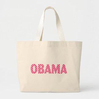 Obama-Pink Kisses Jumbo Tote Bag