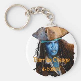 Obama Pirate Merchandise Basic Round Button Key Ring