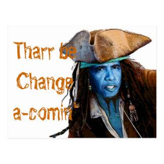 Obama Pirate Merchandise Postcard