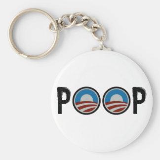 Obama = POOP! Basic Round Button Key Ring
