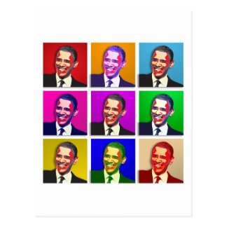 Obama Pop Art Style Postcard