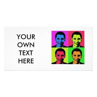 Obama Portrait Personalized Photo Card