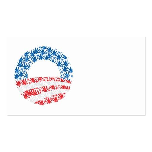 Obama Pot Leaf Symbol Business Card Templates