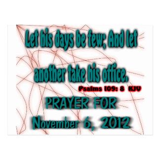 Obama Prayer Postcard