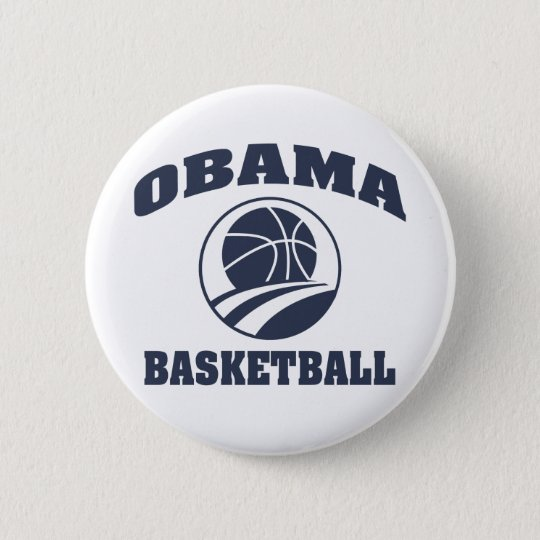 Obama premium basketball button