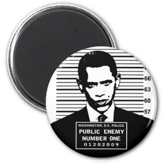 Obama - Public Enemy Number One 6 Cm Round Magnet