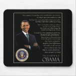 Obama quote mouse mat