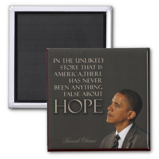 Obama Quote Square Magnet