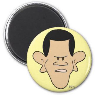 obama racial profiling impeach 6 cm round magnet