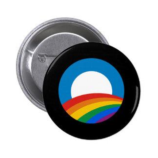 Obama Rainbow 6 Cm Round Badge