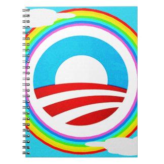 Obama Rainbow Design Notebook