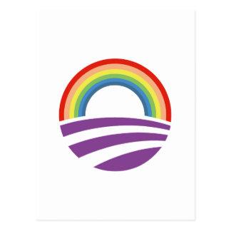 Obama Rainbow Postcard