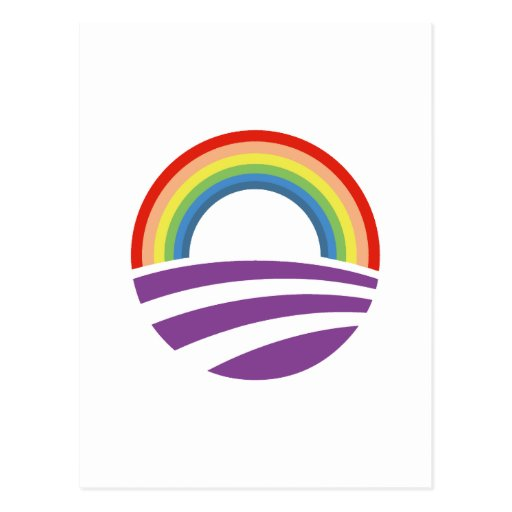 Obama Rainbow Postcards