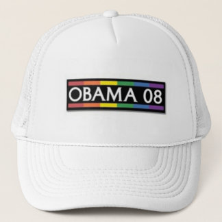 Obama Rainbow Pride Trucker Hat