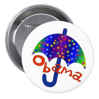Obama Rainbow Umbrella 7.5 Cm Round Badge