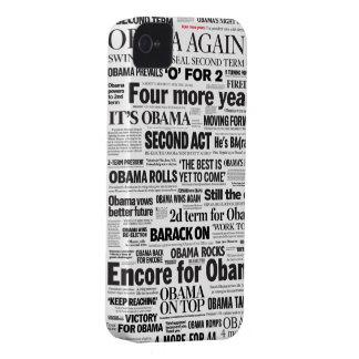 Obama Re-Elected 2012 Headline iPhone 5 Case