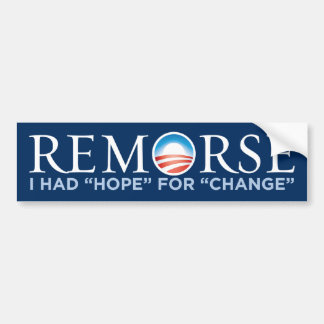 Obama - Remorse Bumper Sticker