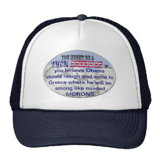obama resign greece morns mesh hats