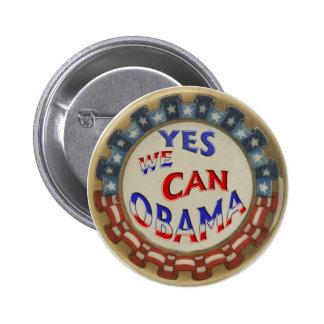 Obama Retro Button