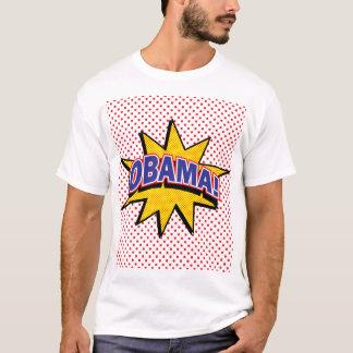 OBAMA! Retro Comic Print T-Shirt