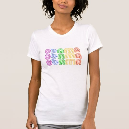 OBAMA Retro Rainbow - T-shirt