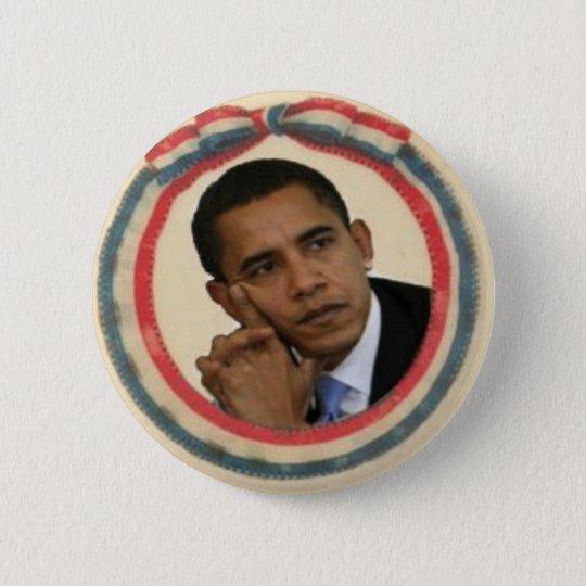 Obama Retro Ribbon Button