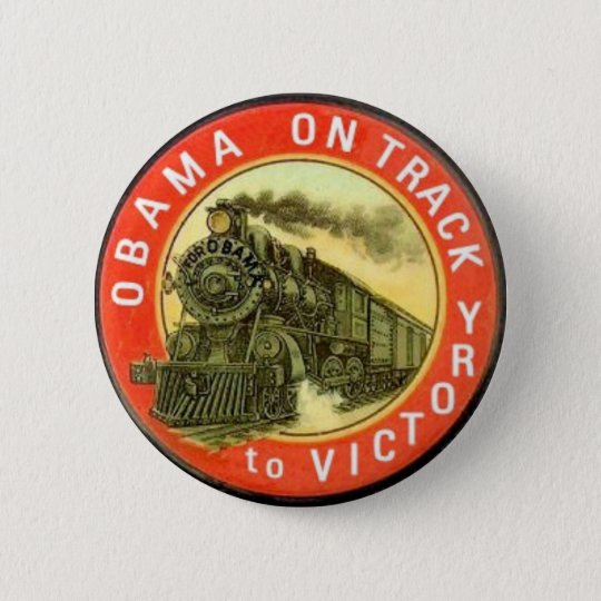 Obama Retro Train Button