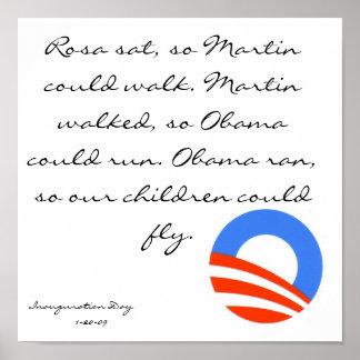 obama, Rosa sat, so Martin could walk. Martin w... Poster