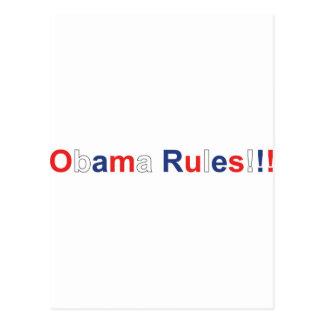 obama rules postcard