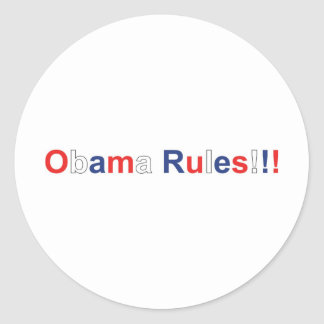 obama rules sticker